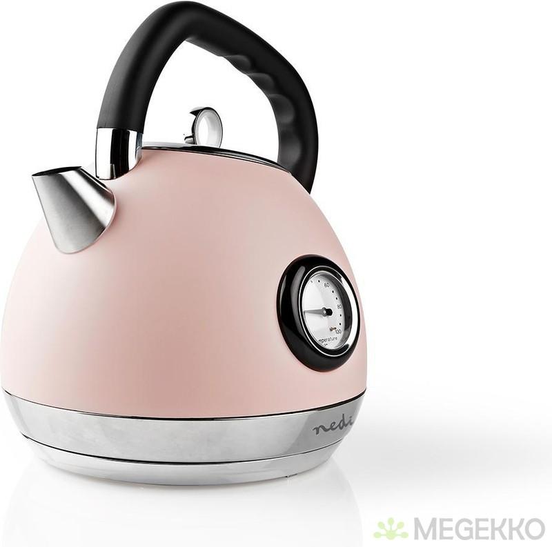Nedis Waterkoker | 1,8 L | Soft Touch | Roze