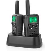 Nedis Walkie-Talkie | Range 10 km | 8 Channels | VOX | Charging Base | 2 Pieces | Black