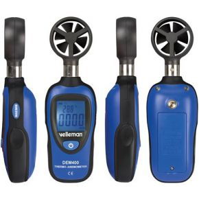 Velleman Digitale Mini Thermometer-anemometer