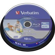 1x10 Verbatim BD-R Blu-Ray 25GB 6x Speed DL Wide Printable CB