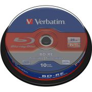 1x10 Verbatim BD-RE Blu-Ray 25GB 2x Speed. Cakebox