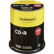 1x100 Intenso CD-R 80 / 700MB 52x Speed. Cakebox