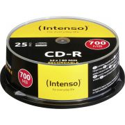 1x25 Intenso CD-R 80 / 700MB 52x Speed. Cakebox Spindel