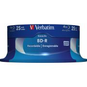 1x25 Verbatim BD-R Blu-Ray 25GB 6x Speed Datalife No-ID Cakebox