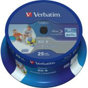 1x25 Verbatim BD-R Blu-Ray 25GB 6x Speed DL Wide Printable CB