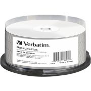 1x25 Verbatim BD-R Blu-Ray 25GB 6x Speed. thermal printable