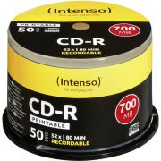 1x50 Intenso CD-R 80 / 700MB 52x Speed. printable. scr. res.