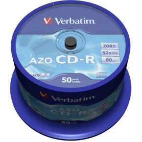 1x50 Verbatim Data Life Plus CD-R 80. 52x Speed. Spindel