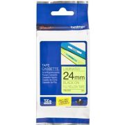 Brother Gloss Laminated Labelling Tape - 24mm, Black/Yellow