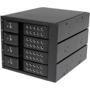 StarTech.com 4-bay aluminium trayless hot-swappable mobile rack backplane voor 3,5 inch SAS II/SATA
