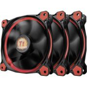 Thermaltake Riing 12 High Static Pressure LED Radiator Fan (set van 3) Rood, 120mm
