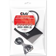 CLUB3D Multi Stream Transport (MST) Hub DisplayPort© 1.2 Quad Monitor USB Powered