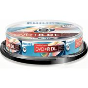 DVD+R Double layer 8.5GB 8xspeed spindle 10 stuks