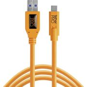 Tether Tools USB 3.0 naar USB-C 4.60m oranje