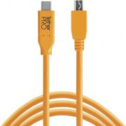 Tether Tools USB-C naar 2.0 Micro-B 5-Pin 4.60m oranje