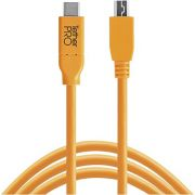 Tether Tools USB-C naar 2.0 Mini B 5-Pin 4.60m oranje