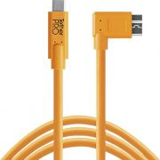 Tether Tools USB-C naar 3.0 Micro-B Right Angle 4.60m oranje
