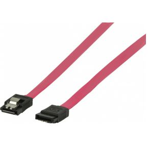 Valueline SATA-kabel 1.5Gbps 0,5m rood met latch