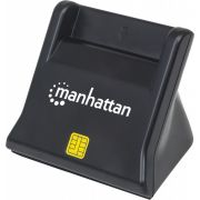 Manhattan 102025 USB 2.0 Zwart smart card reader