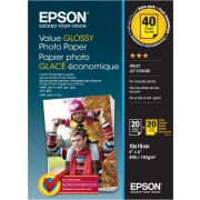 2x 20 Epson Value Glossy Photo Paper 10x15 cm. 183 g S 400044