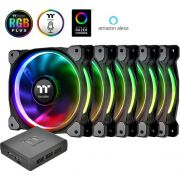 Thermaltake Riing Plus 12 LED RGB Radiator Fan TT Premium Edition (set of 5), 120mm