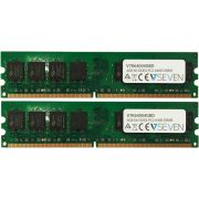 V7 2X2GB KIT DDR2 800MHZ CL6 4GB DDR2 800MHz geheugenmodule