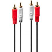 Lindy 35660 1m 2 x RCA 2 x RCA Rood, Wit audio kabel
