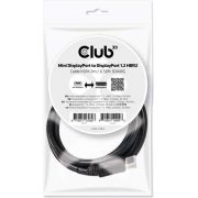 CLUB3D Mini DisplayPort to DisplayPort 1.2 M/M 2m/6.56ft 4K60Hz