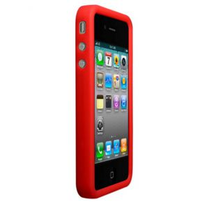 Technaxx silicone deluxe case iPhone 4 rood .2980.