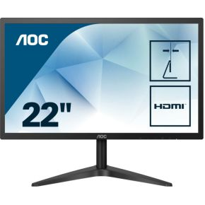 "AOC 22B1HS 21.5"" Full HD LED Flat Zwart computer monitor"