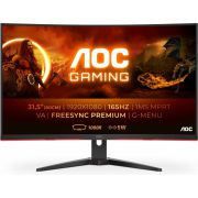 "AOC Gaming C32G2AE/BK LED display 80 cm (31.5"") 1920 x 1080 Pixels Full HD Zwart, Rood monitor"