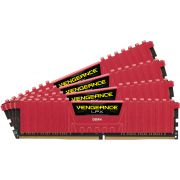 Corsair DDR4 Vengeance LPX 4x16GB 2133 C13 Red Geheugenmodule