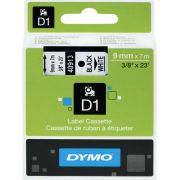 Dymo Tape D1 9mm x 7m Black/White Dymotype: 40913