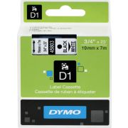 Dymo Tape D1 19mm x 7m black/white