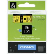 Dymo Tape D1 12mm x 7m black/yellow