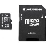 AgfaPhoto Mobile High Speed 64GB MicroSDXC Class 10 Adapter