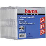 1x25 Hama CD-cases CD-Box- Slim dubbel 51168