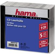 1x5 Hama CD-Box Jewel-Case 44744