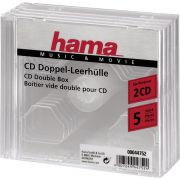 Hama CD-Double-Box 5-Pack Transparant Jewel-Case 44752
