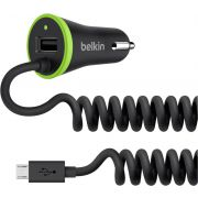 Belkin autolader 3.4 A 17 W USB plus fixes USB Micro kabel