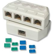 Lindy UTP/RJ45 4 Port Y Adapter