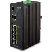 Planet IGS-10080MFT Managed 1U Zwart netwerk-switch
