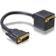 DeLOCK Adapter DVI25 male to DVI25 HDMI female
