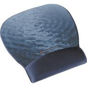 3M Precise™ Mousing Surface with Gel Wrist Rest MW311BE, Blue Water Design