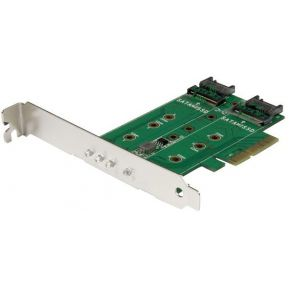 StarTech.com 3-poorts M.2 SSD (NGFF) adapter kaart- 1 x PCIe (NVMe) M.2, 2 x SATA III M.2 PCIe 3.0