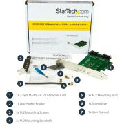 StarTech-com-3-poorts-M-2-SSD-NGFF-adapter-kaart-1-x-PCIe-NVMe-M-2-2-x-SATA-III-M-2-PCIe-3-0