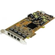 StarTech.com 4-poorts gigabit Power over Ethernet PCIe-netwerkkaart PSE / PoE PCI Express NIC